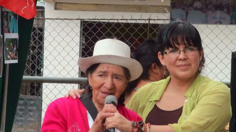 Lina Solano and the Frente de Mujeres Defensoras de la Pachamama. Source: guardianasamaz